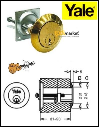 Cilindro Yale per serrature a legno