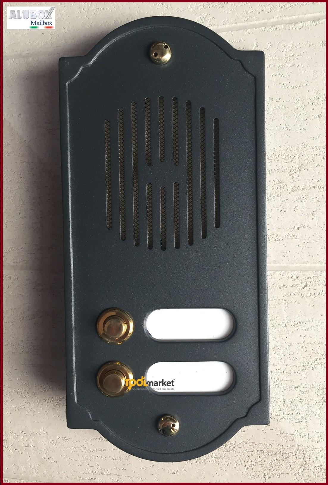 Pulsantiera citofonica ottone ghisa PLS2