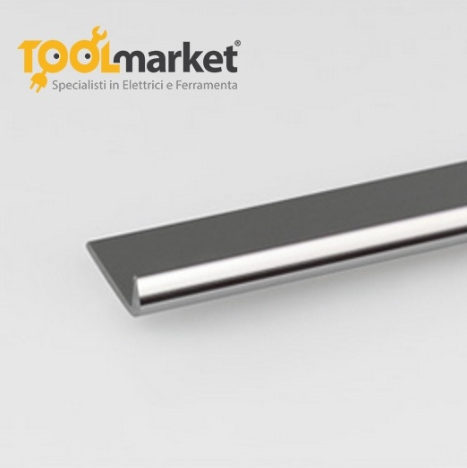 Profilo alluminio lucido unghietta