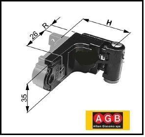 Cerniera regolabile sistema Abaco - AGB