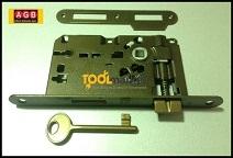 Serratura patent piccola bronzata bordo tondo - AGB