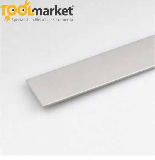 Profilo alluminio piatto Anodizzato argento