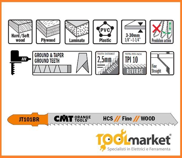 Lama per alternativi taglio legno pz 5 jt 101br
