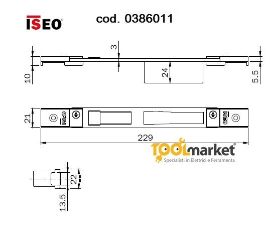 Contropiastra iseo registrabile cod 0386011