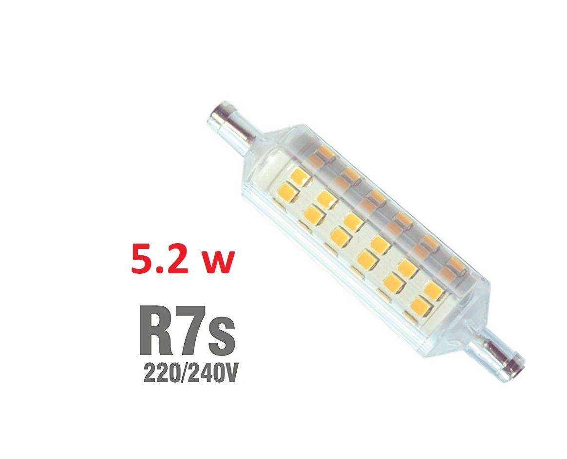 Lampada led lineare R7S 5.2W 78 mm luca calda