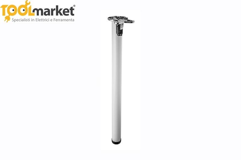 Gamba richiudibile bianca per tavoli in acciaio GTV