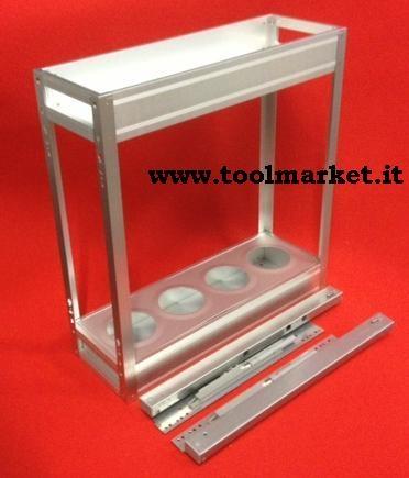 Cestello in alluminio da cm10
