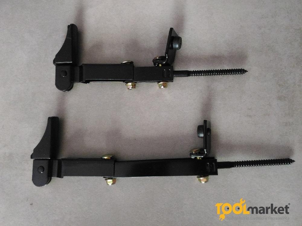 Fermapersiana in acciaio colore nero vite corta - GHIDINI