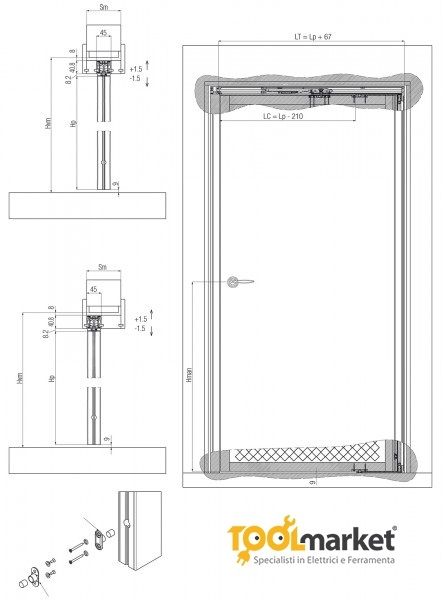 Meccanismo rototraslante SwingLife Wood Universal