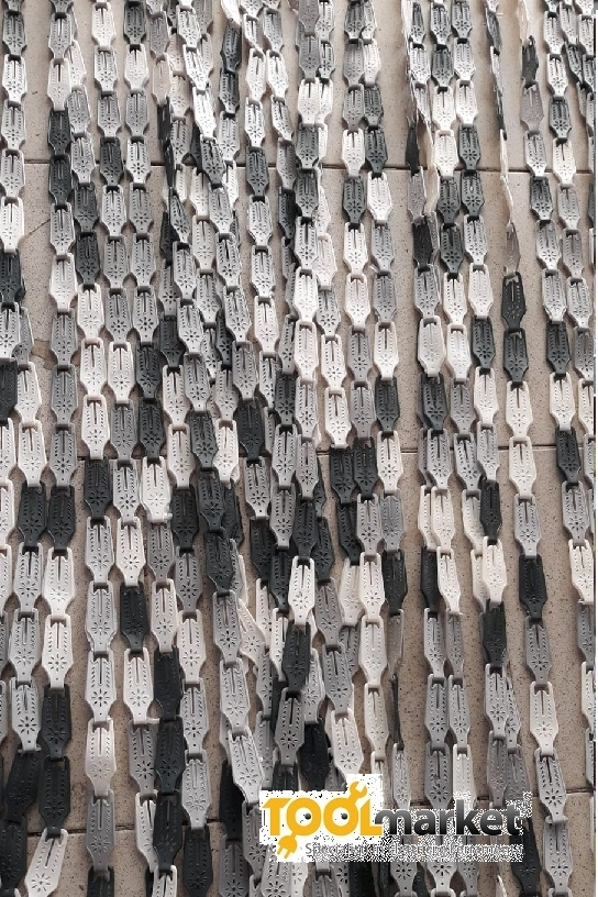 Tenda antimosche piastrina 120 x 225  melange grigio