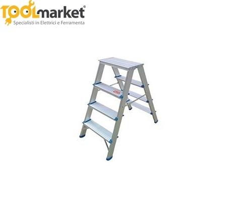 Scaletta doppia in alluminio 4 gradini VALEX