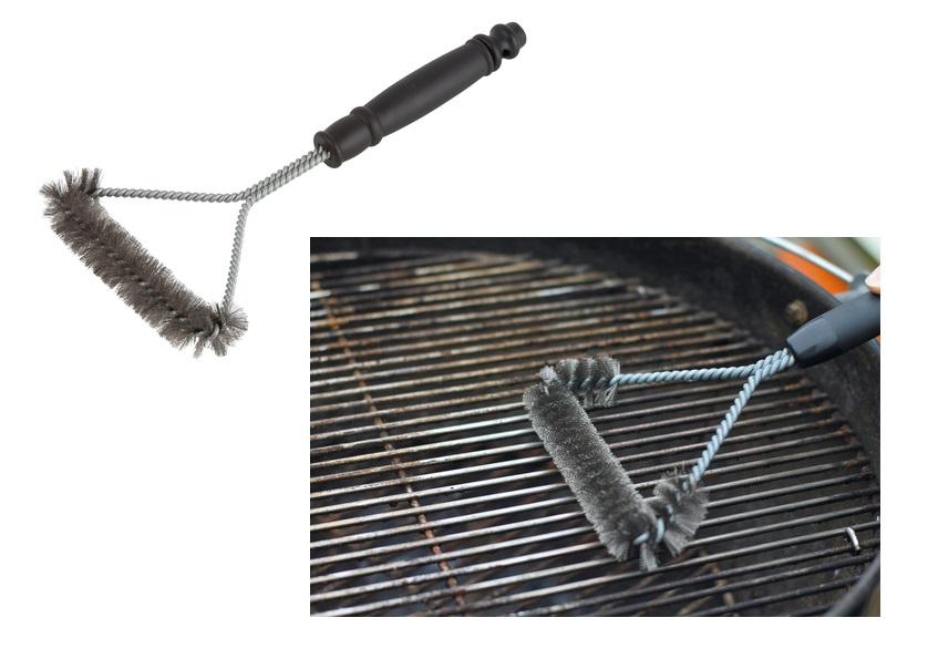 Spazzola per barbecue con filo di acciaio inossidabile Wolfcraft