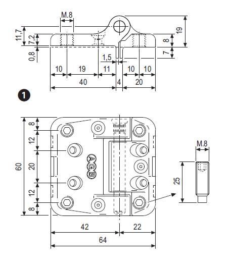 Cerniera Maxi H60 per finestre a 3 e 4 ante - AGB