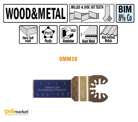 Lama multiutensile OMM10 22mm