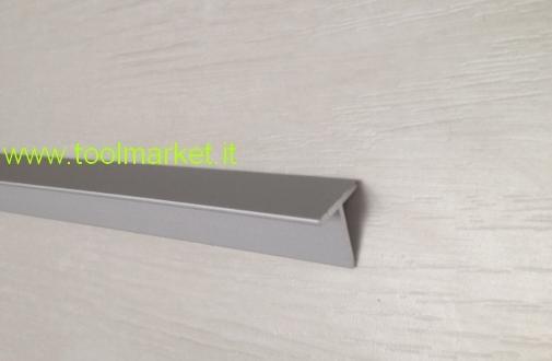 Profilio alluminio a T Anodizzato argento