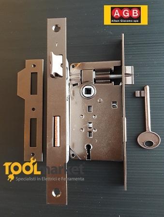 Serratura patent piccola bronzata bordo quadro - AGB
