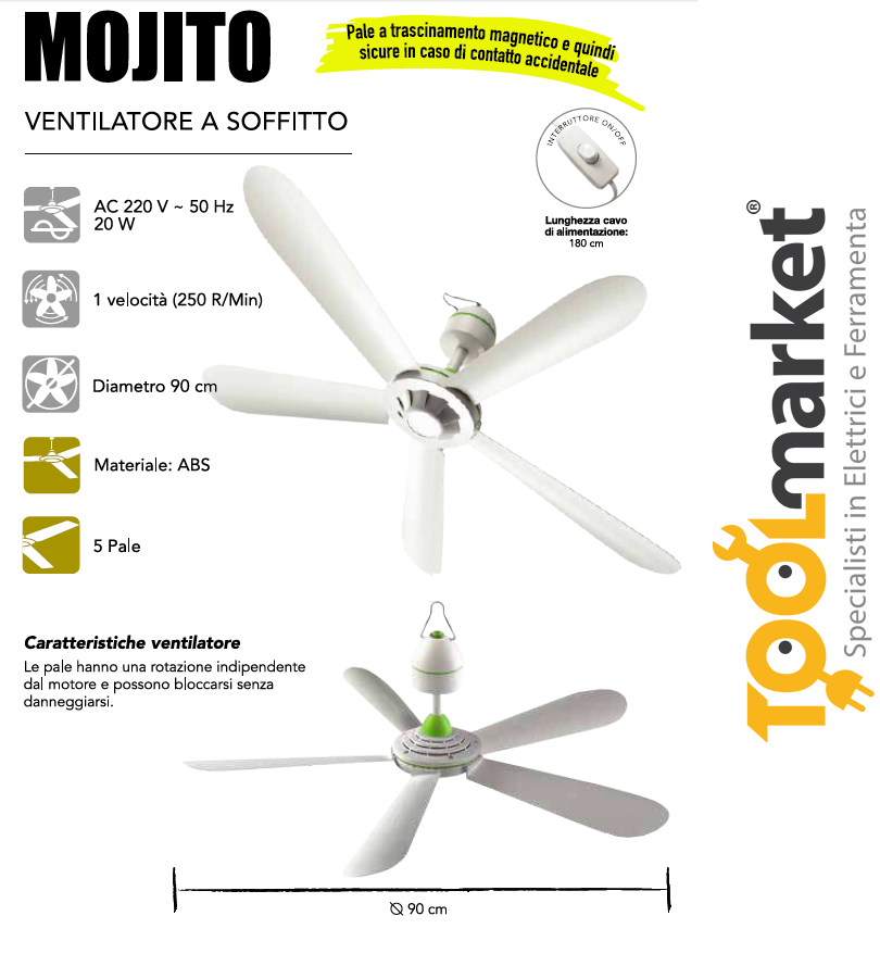 Ventilatore a soffitto MOJITO - CFG