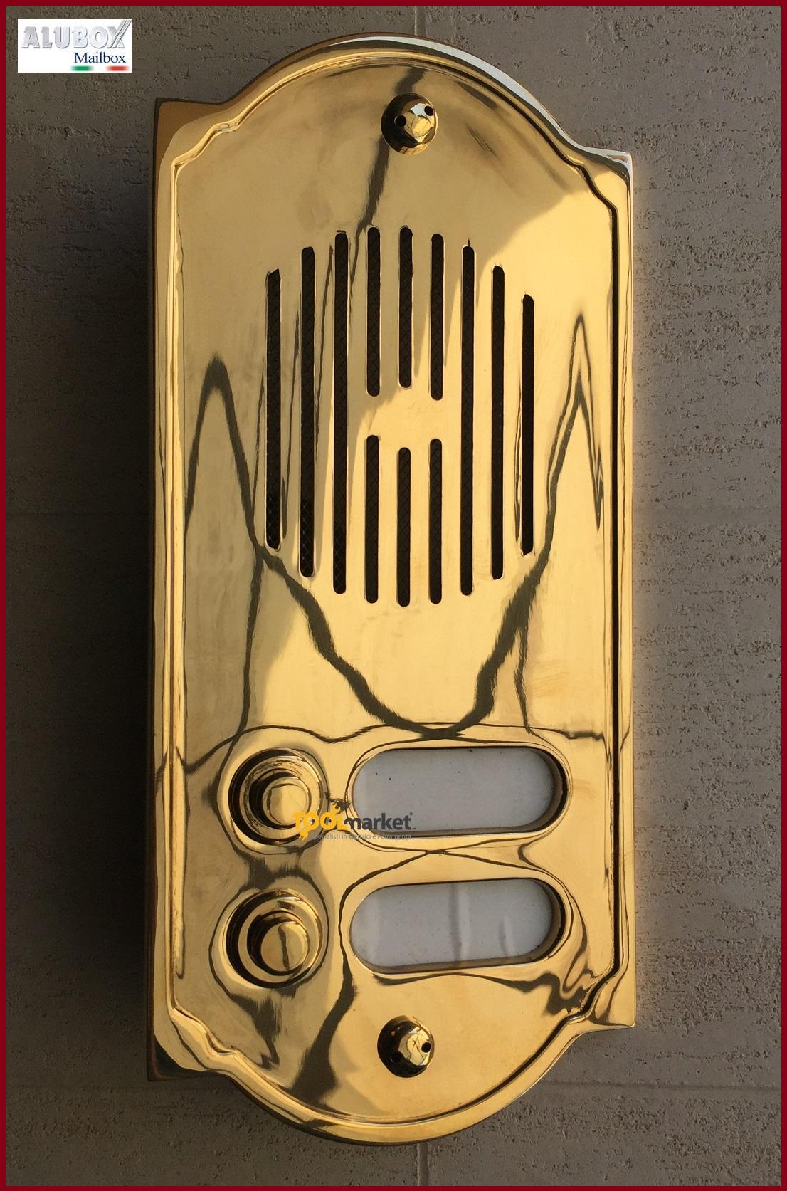Pulsantiera citofonica ottone PLS2