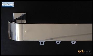 Bastone 4010 cromo curvo con scivoli