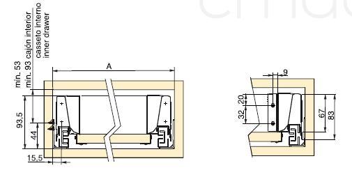 Guida completa Vantage Q per cassetti chiusura soft BIANCO