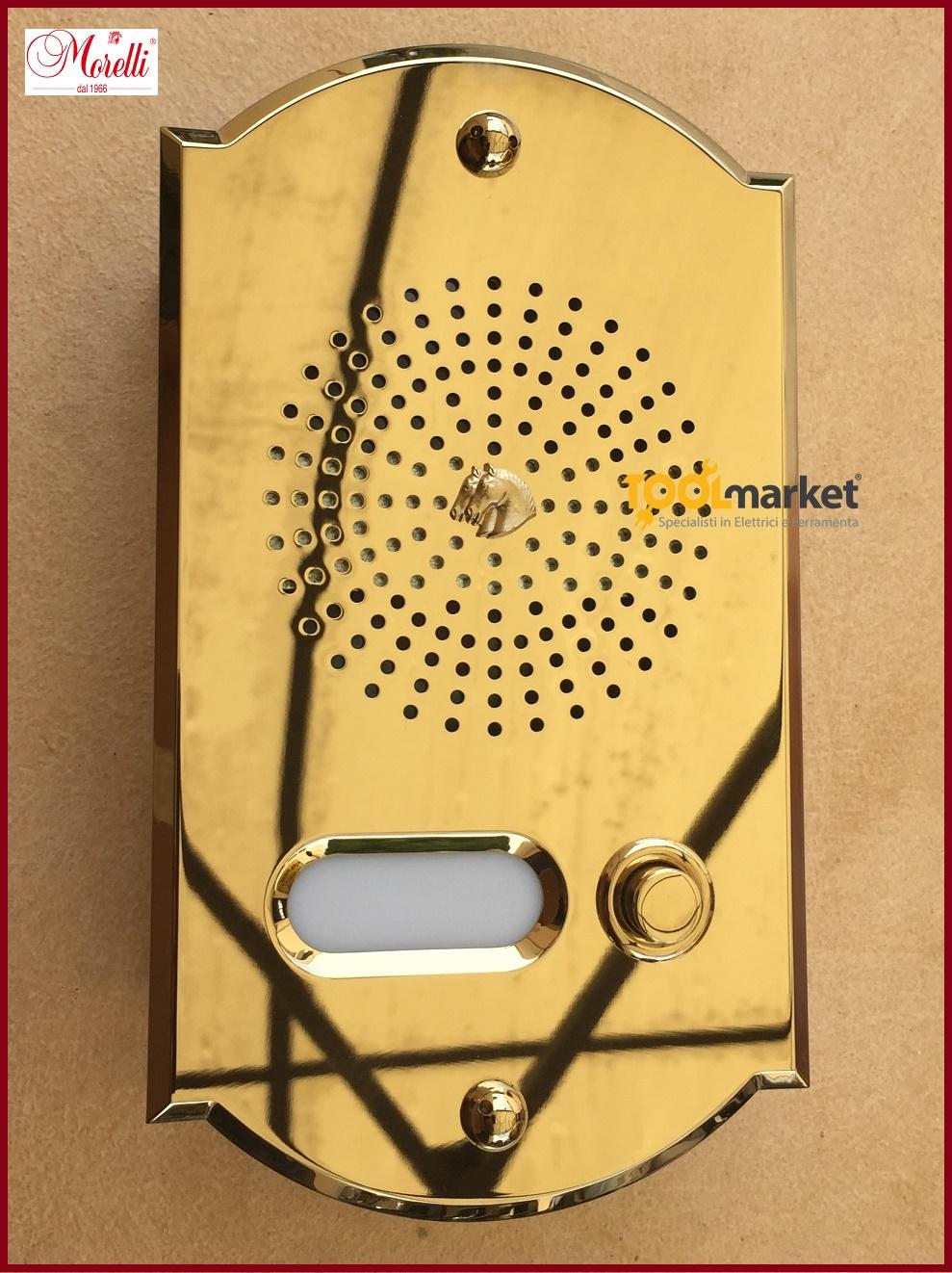 Pulsantiera citofonica ottone PVD 1 pulsante CPT