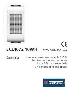 Campanello 220v LIFE WH ECL407210WH