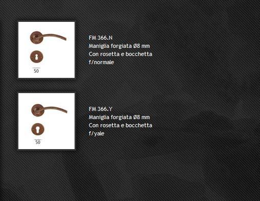 Maniglia FM366 ferro forgiato
