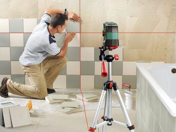 livella laser Bosch PCL20 set + treppiede regolabile