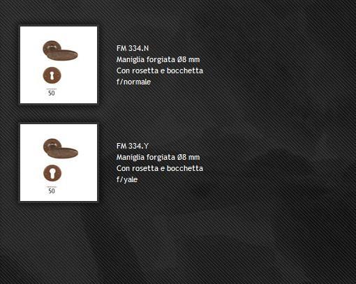 Maniglia FM334 ferro forgiato