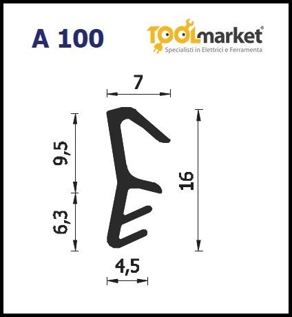 Guarnizione per infissi L4-16/a100
