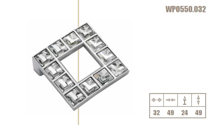 Pomolo swarovski cromo 550-32