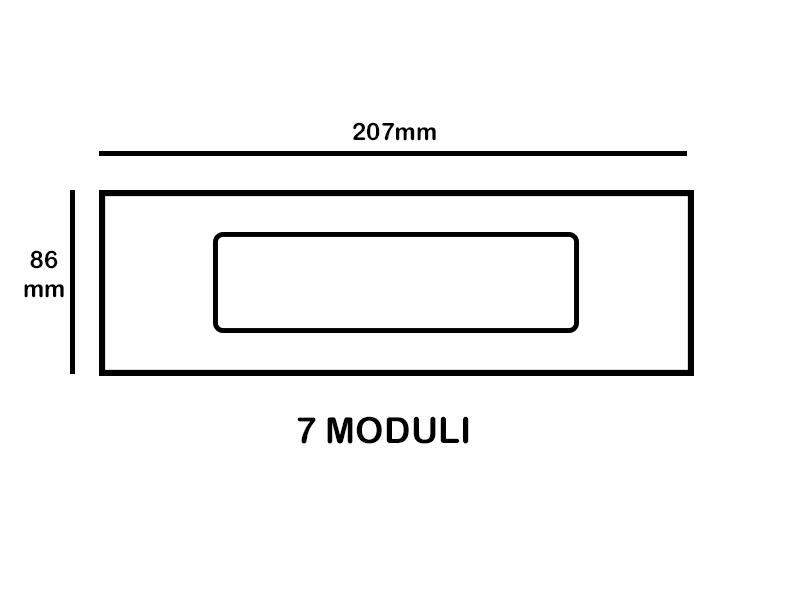 Placca copri interuttore Alluminio chiaro Mylife Q