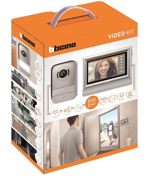Videocitofono 2 fili memory 7 pollici touch 317113
