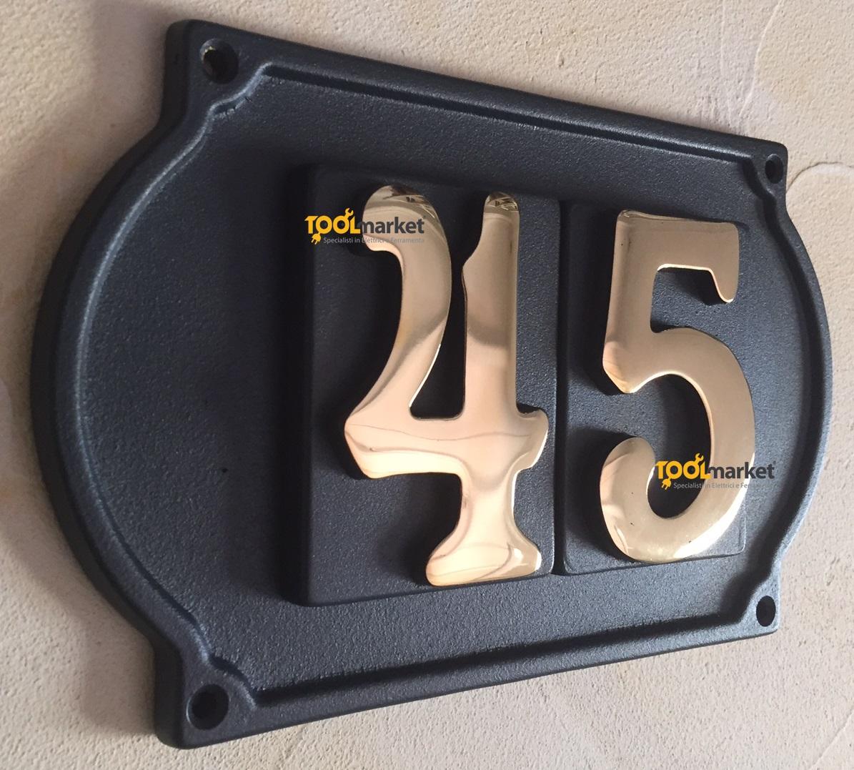 Numero civico Ghisa 2 cifre