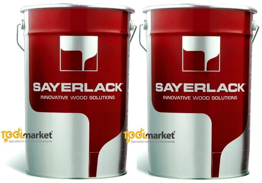 Vernice parquet poliuretanica trasparente opaca TZ6640/00 lt6 + TH0146/00 lt6 - SAYERLACK