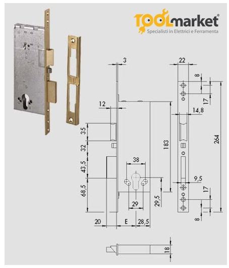 serratura Cisa 12016-60
