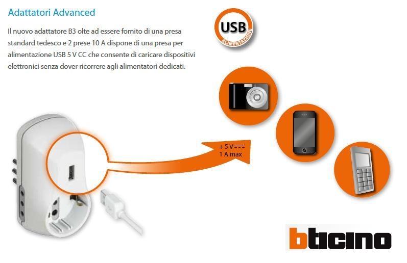 Alimentatore USB + tripla 10A