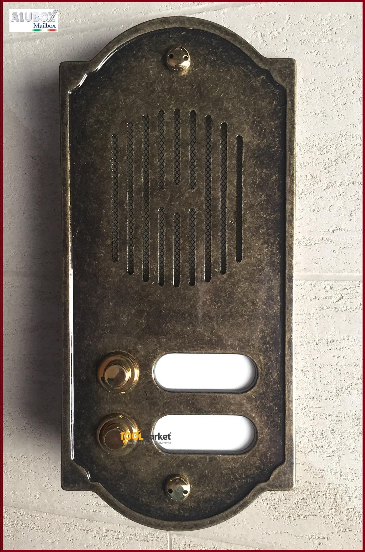 Pulsantiera citofonica ottone brunito PLS2