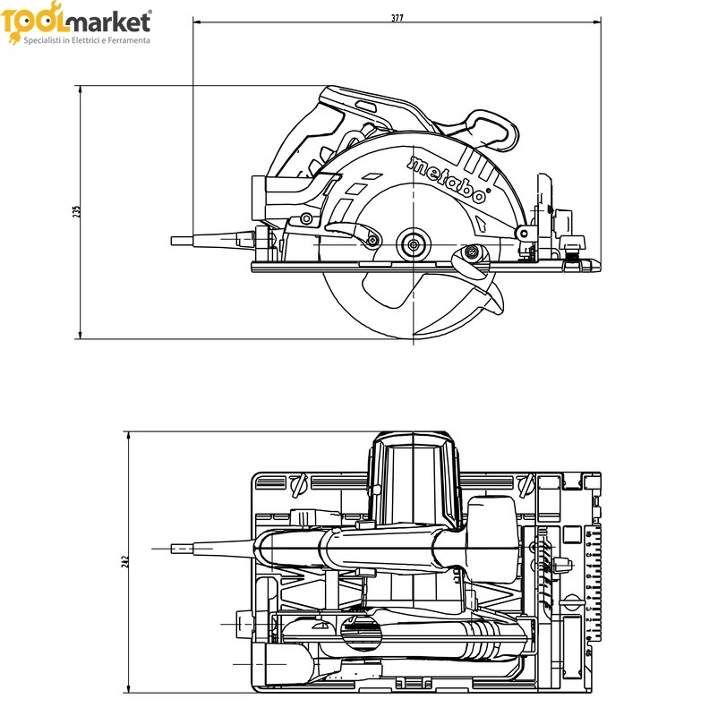 Sega circolare KS 55 FS + Binario guida da 80cm