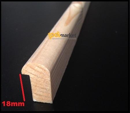 Fermavetro legno sagoma D18