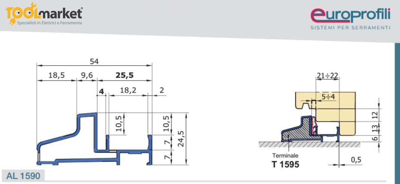 Profilo gocciolatoio 1590 da 3 mt