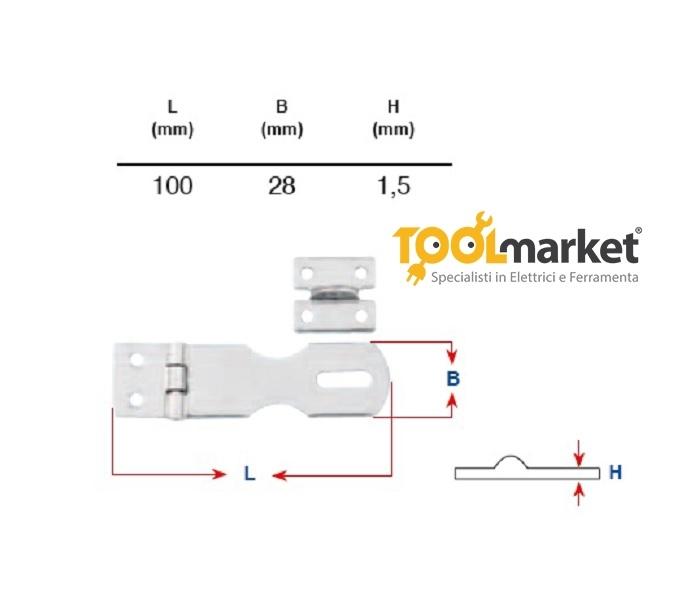 Portalucchetto Inox mm 100