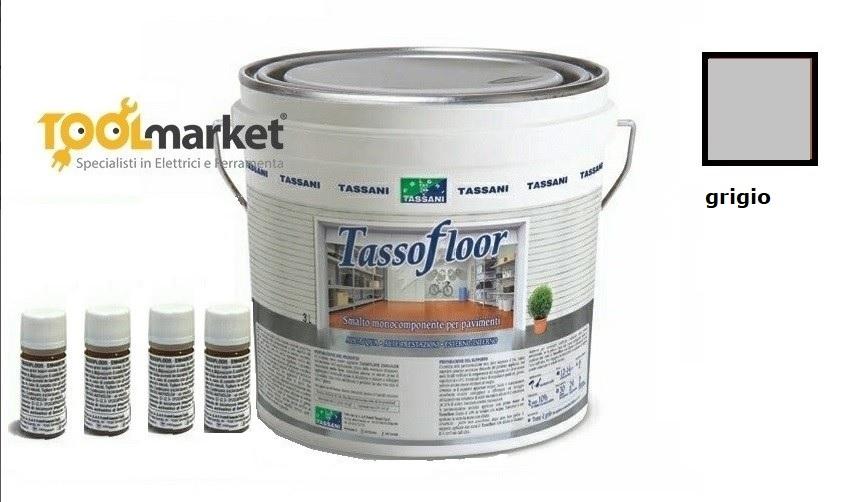 Smalto all'acqua per pavimenti Lt 3 Tassofloor Tassani