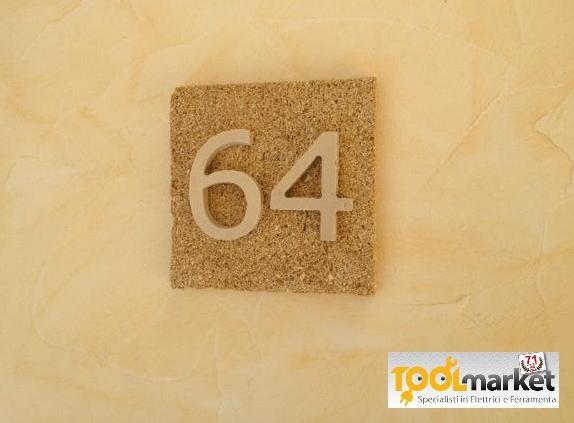 Numero civico Pietra Naturale 2 cifre
