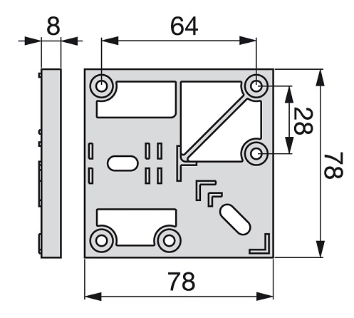 Piedino alluminio regolabile quadro 38 mm