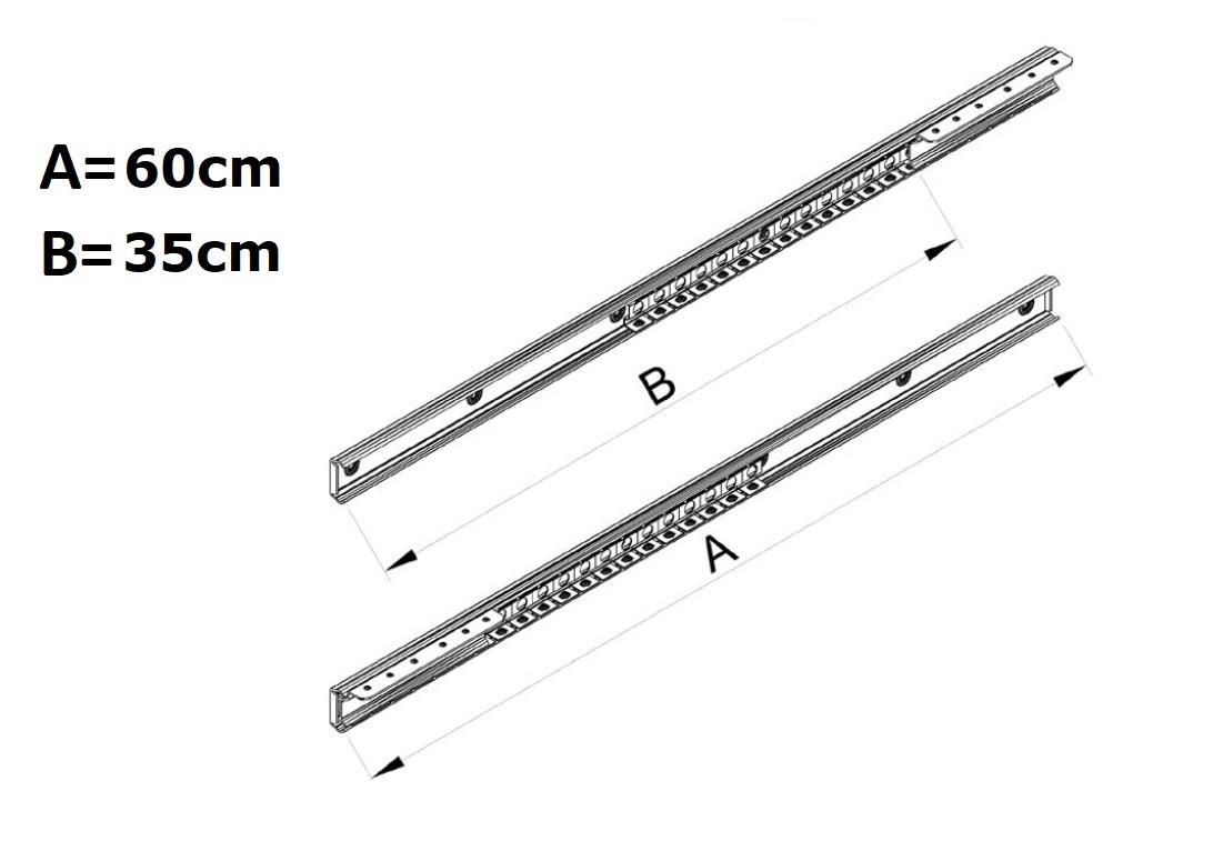 Guide tavolo apertura unilaterale cm60