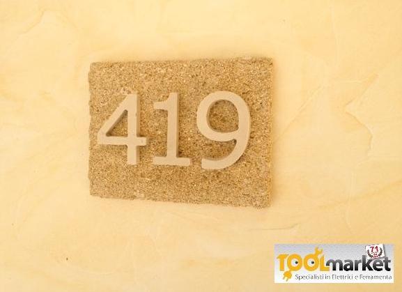 Numero civico pietra naturale 3 cifre