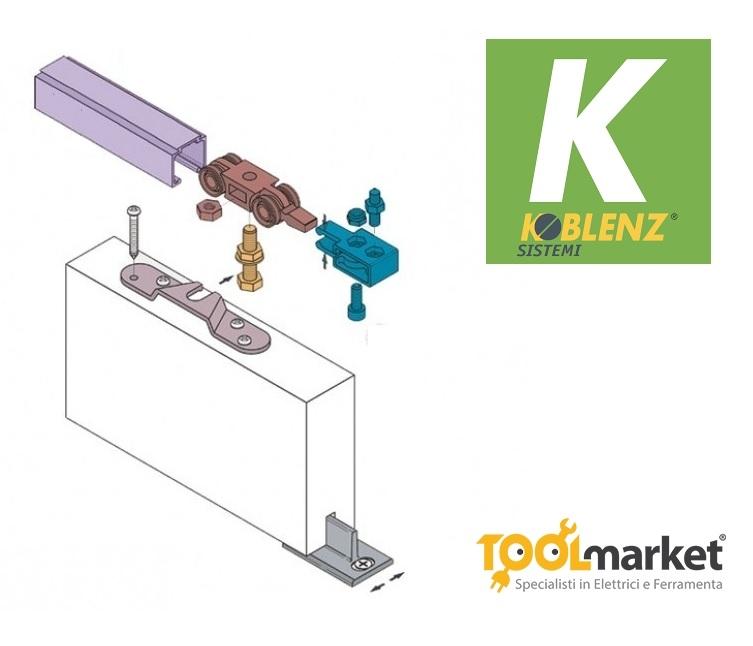 Binario Koblenz 400/40kg per porte scorrevoli