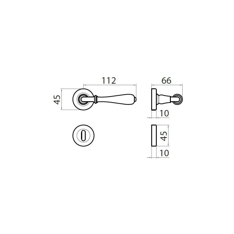Maniglia per porta modello Novecento - GHIDINI