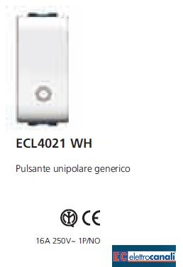 Pulsante LIFE WH ECL4021WH